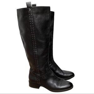 SAM EDELMAN Leather Studded Riding Boots Size 7.5